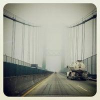 Photo taken at Vincent Thomas Bridge by Angela D. on 3/14/2013