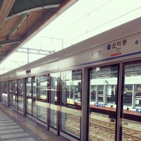 Photo taken at Sinimun Stn. by Soojeong Y. on 10/17/2013