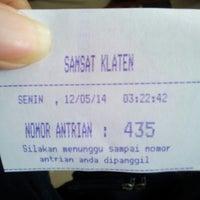 Photo taken at Samsat Klaten by Anang W. on 5/12/2014