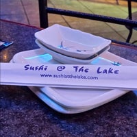 Photo taken at Sushi at The Lake by Robin F. on 3/8/2015