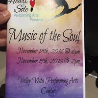 Photo taken at Valley Vista High School Performing Arts Center by Sonia M. on 11/19/2016