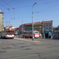 Photo taken at Mendlovo náměstí (tram, bus) by Olii05 on 3/28/2014