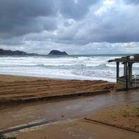 Photo taken at Playa de Zarautz by @plarrabasterra on 2/8/2013