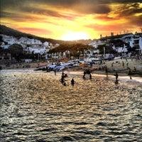 Photo taken at Tamariu by ricard c. on 8/25/2012