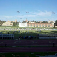Photo taken at UCLA Marshall Field (in Drake Stadium) by Chris A. on 9/8/2012