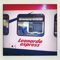 Photo taken at Fiumicino Aeroporto railway station (ZRR) by Benjamin G. on 12/19/2012