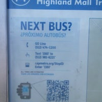 Photo taken at Bus Stop 1160 - Highland Mall Transfer Center by Roger C. on 2/8/2014