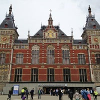 Photo taken at Amsterdam Centraal Railway Station by Jeannette C. on 6/14/2013