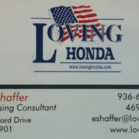 Photo taken at Loving Honda by Edward S. on 9/30/2014