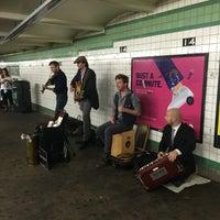 Photo taken at MTA Subway - 14th St (F/L/M) by Kayvon T. on 6/5/2016