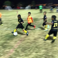 Photo taken at Desert Breeze Soccer Complex by Dr. Adam P. Z. on 10/5/2016