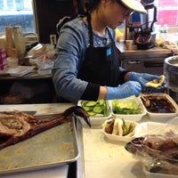 Photo taken at Peking Duck Sandwich Stall by Jacob N. on 10/4/2015