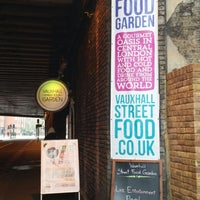 Photo taken at Vauxhall Street Food Garden by Marcus M. on 12/5/2014