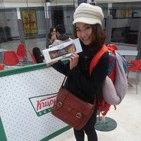 Photo taken at Krispy Kreme by ~♥Pearl♥~ l. on 4/18/2014