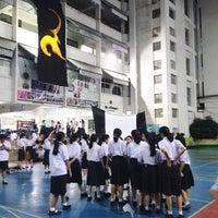 Photo taken at Mahaprutaram Girls' School by Beam K. on 11/24/2016