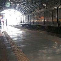 Photo taken at Qutab Minar Metro Station by Ankit A. on 12/13/2013