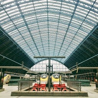 Photo taken at London St Pancras International Railway Station (STP) by Tim M. on 3/10/2013