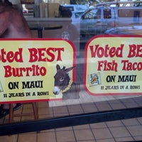 Photo taken at Maui Tacos by Howard D. on 2/27/2013