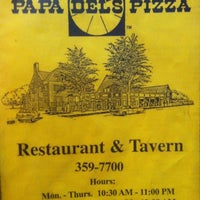 Photo taken at Papa Del's Pizza by Jared R. on 10/11/2012
