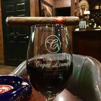 Photo taken at Churchill Cigar Lounge & Wine Bar by Rebecca H. on 10/9/2016