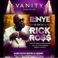 Photo taken at Vanity Nightclub VIP Room by James K. on 12/29/2013