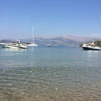 Photo taken at Sunj Lopud Beach by Nafiş K. on 8/28/2016