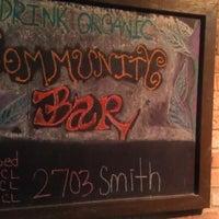 Photo taken at Community Bar by Houston Press on 8/12/2014