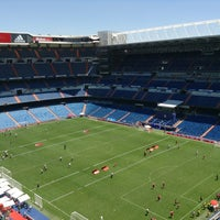 Photo taken at Santiago Bernabéu Stadium by Marcela C. on 6/15/2013