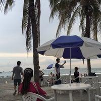 Photo taken at 旗津海水浴場 Cijin Beach by Anne L. on 7/29/2016