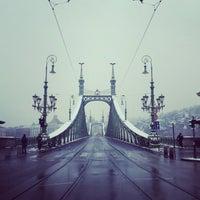 Photo taken at Liberty Bridge by Balázs K. on 1/10/2013