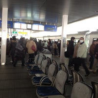 Photo taken at Osaka Monorail Hotarugaike Station by Yoichi M. on 2/23/2013