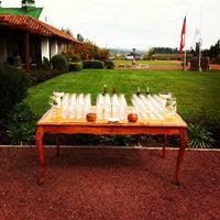Photo taken at Viña Casas Del Bosque by Raul Alejandro G. on 10/20/2012