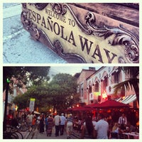 Photo taken at Espanola Way Village by Angie S. on 7/1/2013