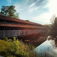 Photo taken at Covered Bridge At Shelburne Museum by Parker D. on 5/18/2013