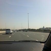 Photo taken at Sheikh Mohammed Bin Zayed Road شارع الشيخ محمد بن زايد by Marvey M. on 4/12/2013