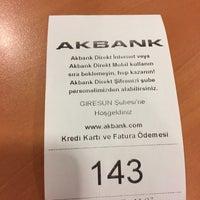 Photo taken at Akbank T.A.Ş Giresun Şubesi by HASAN K. on 1/3/2017