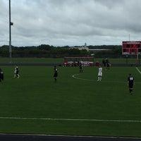 Photo taken at sun prairie high school soccer field by James T. on 9/10/2016
