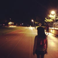 Photo taken at Campbell Community Center Track by Aki Y. on 4/18/2013