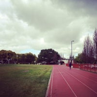 Photo taken at Campbell Community Center Track by Aki Y. on 2/8/2013