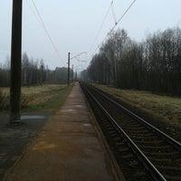 "Photo taken at LDz   Dzelzceļa stacija ""Milzkalne"" by Dāvids K. on 4/7/2014"