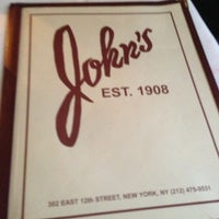 Photo taken at John's of 12th Street by Chistopher P. on 1/25/2013