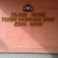 Photo taken at Pejabat Tanah Daerah Johor Bahru by ZaaL 1. on 5/28/2012