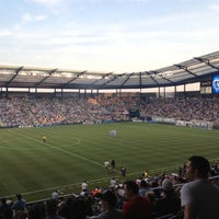 Photo taken at Boulevard Members Club at Sporting Park by Rebecca H. on 8/12/2012
