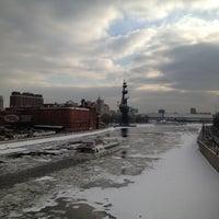 Photo taken at Patriarshiy Bridge by Nikita B. on 2/29/2012