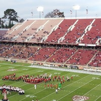 Photo taken at Stanford Stadium by Hannu K. on 9/1/2012