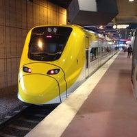 Photo taken at Arlanda Express (Stockholm C) by Chuck B. on 4/27/2012