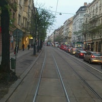 Photo taken at Štěpánská (tram) by Bogomil S. on 11/22/2013