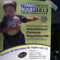 "Photo taken at Escuela Municipal de Rugby ""El Cantizal"" by Borja D. on 2/2/2013"