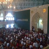 Photo taken at Masjid Agung Al-Ukhuwwah by Oskheey on 7/12/2013