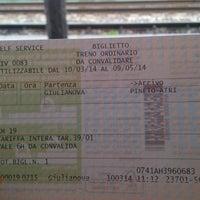 Photo taken at Stazione Giulianova by Alexandru S. on 3/10/2014